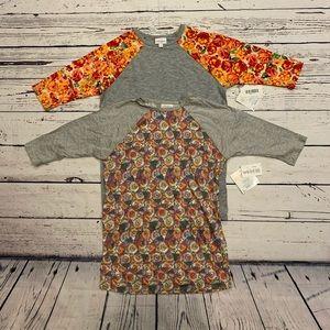 Girl 12 LuLaRoe Sloan 3/4 sleeve tee bundle